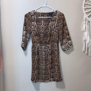 H&M snakeskin dress